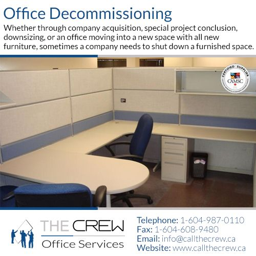 We can definitely remove the #office furniture and dismantle it, so that all reusable components and materials are properly recycled to ensure most of your office furniture finds new life in other products!