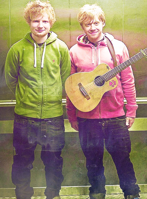 Ed Sheeran and Rupert Grint | Bloodstream | Pinterest ...
