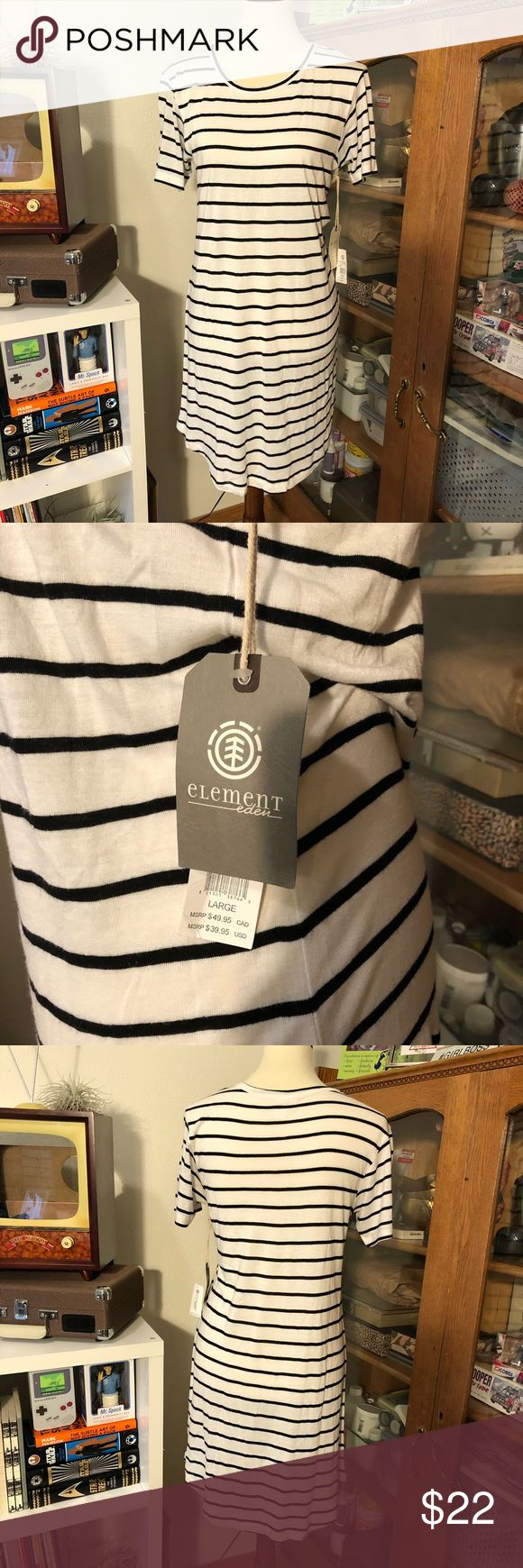Element Eden nautical dress NWT ⛵️ Element Eden striped dress Large Super soft silky material Perfect for the weekends!  NWT  Bundle and save, goodies with purchase Element Dresses