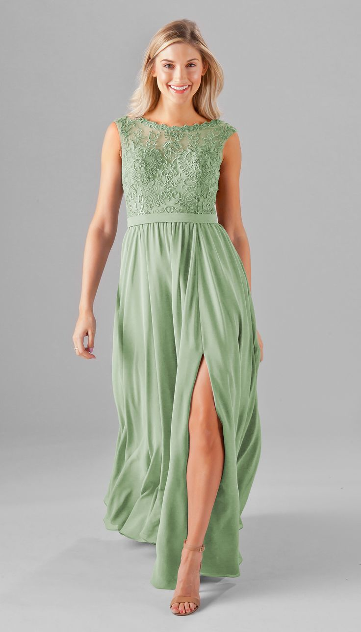 62 best embroidered lace bridesmaid dresses images on pinterest a gorgeous embroidered lace bridesmaid dress featuring an embroidered top with an illusion bateau neckline and ombrellifo Choice Image