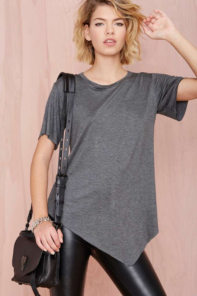 Nasty Gal Playing Favorites Tee - Charcoal | Shop Back In Stock at Nasty Gal
