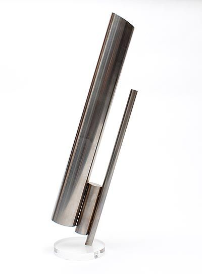 Found on www.botterweg.com - Stainless steel art object with perspex stand design execution Nico Liedorp 1950 - 2012 in own studio Nuenen / the Netherlands 1990