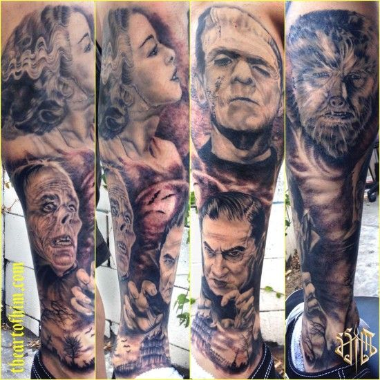 Horror Movie Tattoos Tattoos: 17 Best Images About Classic Horror Tattoos On Pinterest