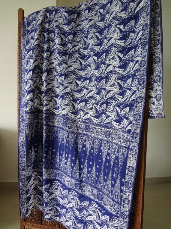 Malaysian batik fabric hand printed by MissIines on Etsy $36 4' x 8'