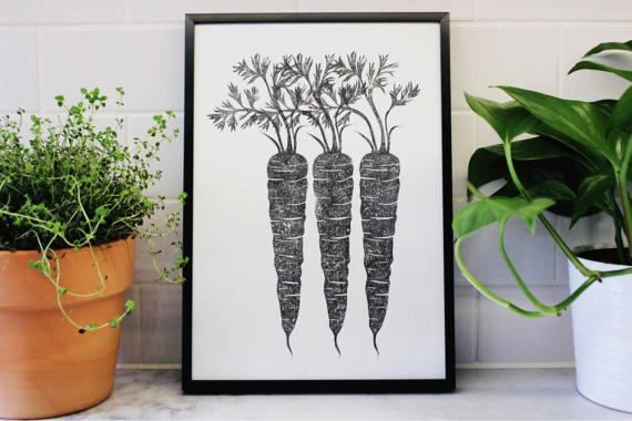Hey, I found this really awesome Etsy listing at https://www.etsy.com/uk/listing/517991775/carrot-lino-print-handprinted-linocut