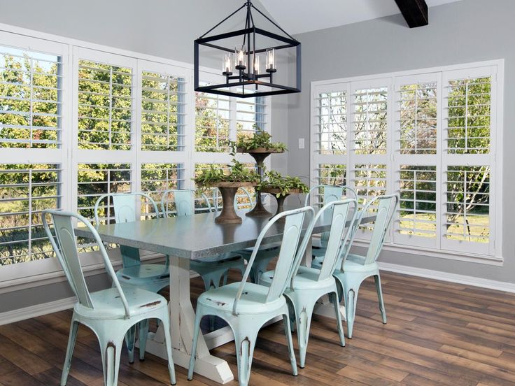 19 best fixer upper images on pinterest - Light blue dining table ...