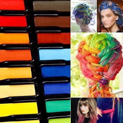 kit de 24 couleur coloration cheveux teinture craie crayon temporaire coiffure - Coloration Cheveux Craie
