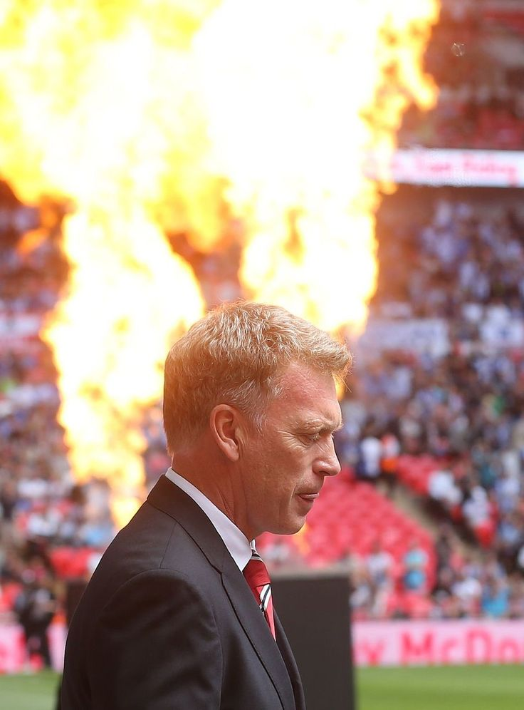 Manchester United manager David Moyes before the game