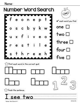 1000+ ideas about Number Words on Pinterest | Ten Frames, Math and ...