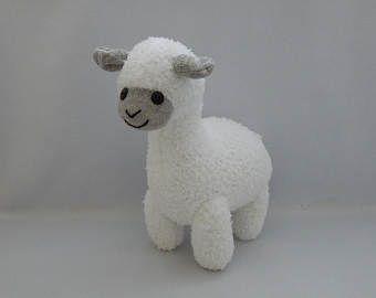 Alpaca Plush Toy, Alpaca Stuffed Animal, Llama Stuffed Toy, Sock Monkey
