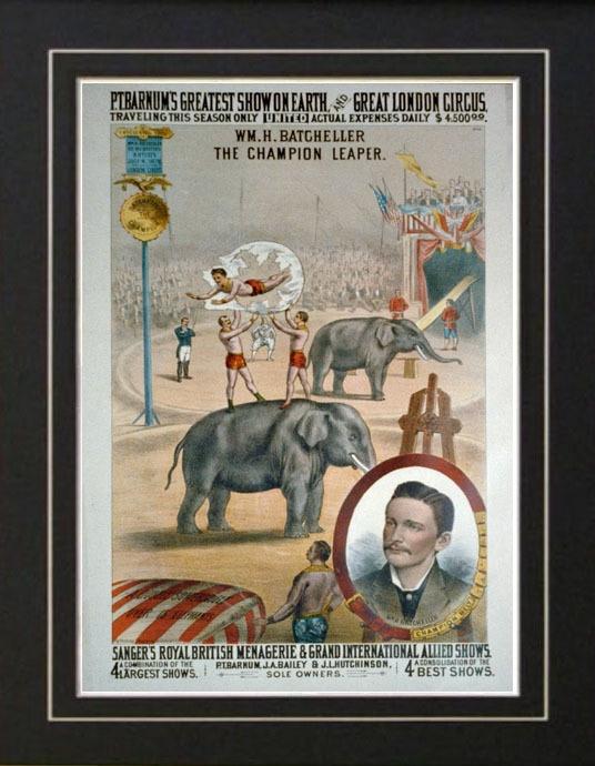 P T Barnum Circus Carnival Fair Poster Vintage Acrobat | eBay