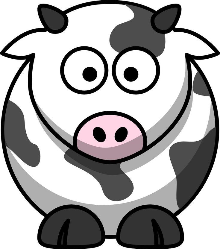 Free cartoon cow clip art from @OnlineLabels.com