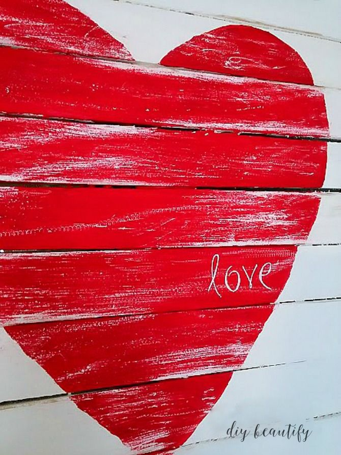 How to make a Mini Pallet Valentine Sign   DIY beautify