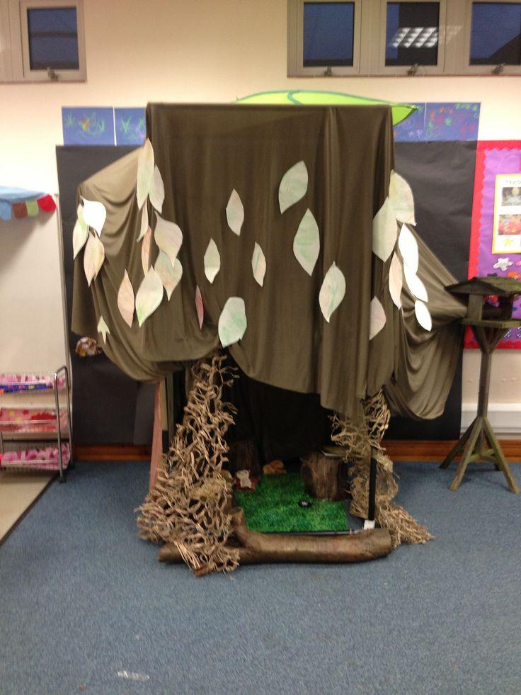 Owl babies tree den