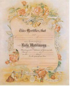 Printable Wedding Birth Anniversary Victorian Certificate