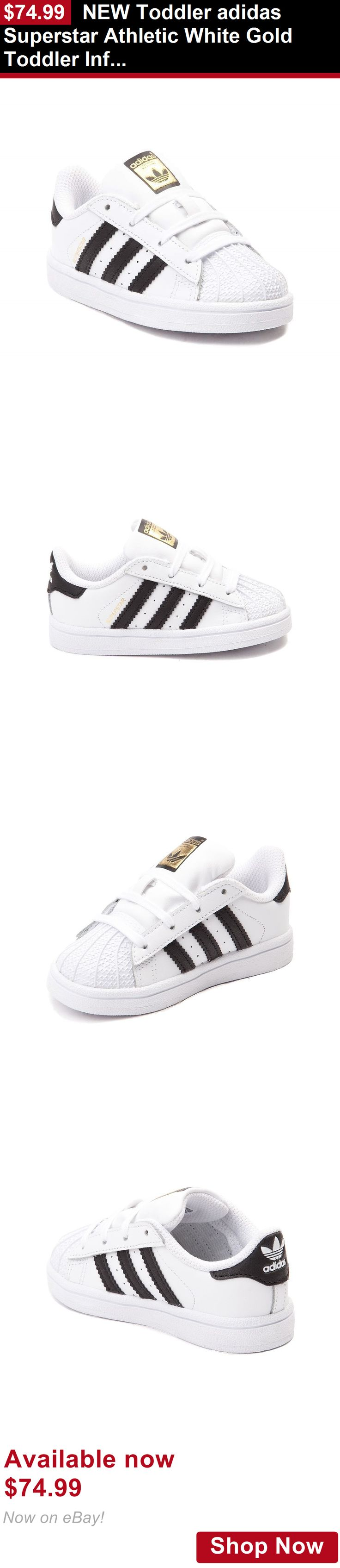 Baby girls clothing shoes and accessories: New Toddler Adidas Superstar Athletic White Gold Toddler Infant Boys Girl Shoe BUY IT NOW ONLY: $74.99