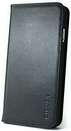 CIBOLA 高級牛革 iphone SE ケース / iPhone 5s ケース / iPhone 5 ケース 手帳型 本革  箱付き 保存袋付き クロス付き  カバー カードポケット スタンド機能 マグネット式 アイフォン 用 SE / 5s / 5 (iphone5/5S/SE ブラック)