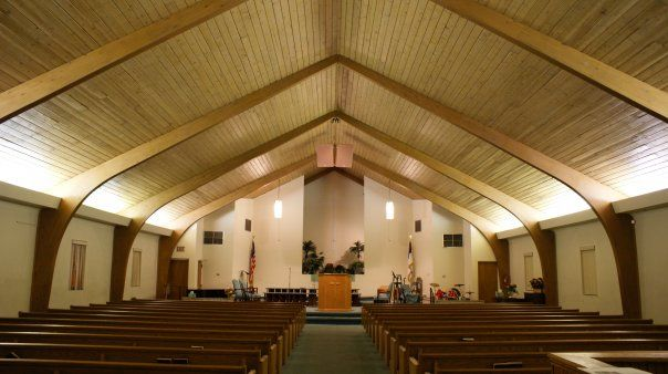 Modern Church Sanctuary Tongue And Groove Ceiling
