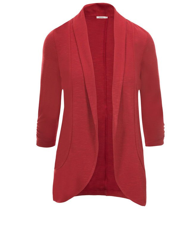 Shawl Collar Cover-Up, Poppy Red