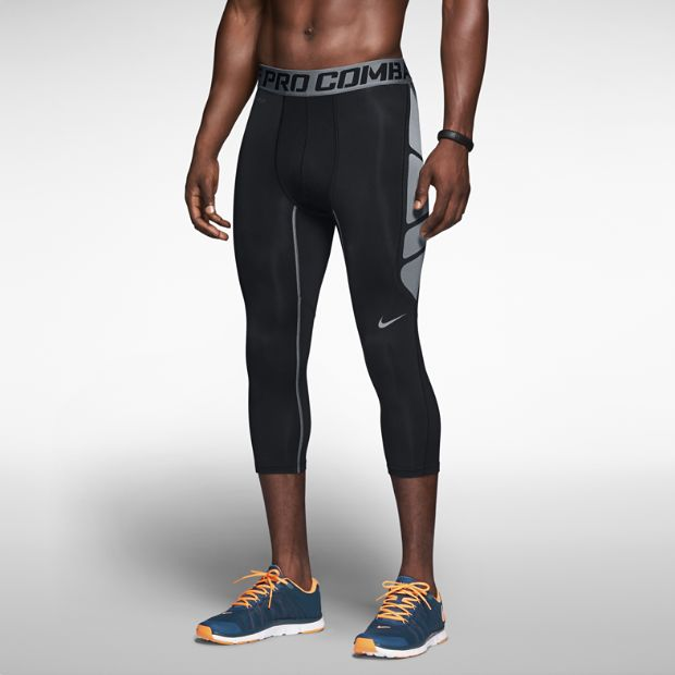 The Nike Pro Combat Hypercool Compression 3/4-Length Men's Tights. Like this.