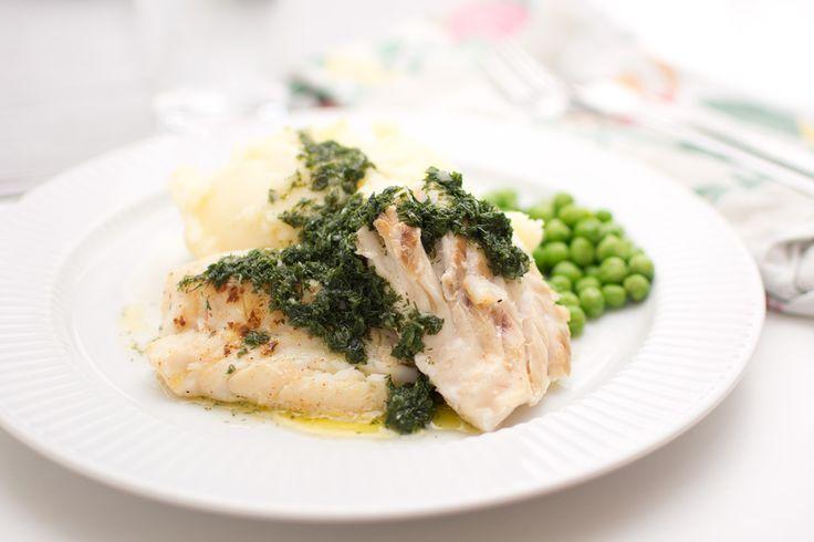 Fisk med dillgremolata och potatismos
