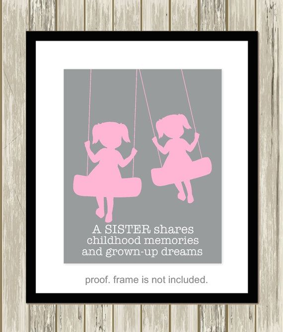 Wall Art Quotes For Sisters : Sisters wall art twin twins nursery