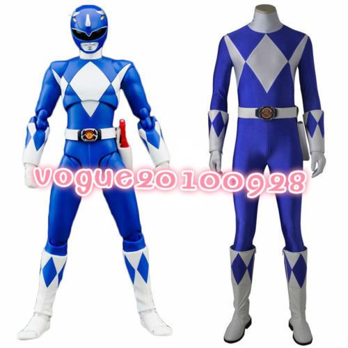 Anime mighty morphin power rangers cosplay blue ranger cosplay costume  | Clothes, Shoes & Accessories, Fancy Dress & Period Costume, Fancy Dress | eBay!