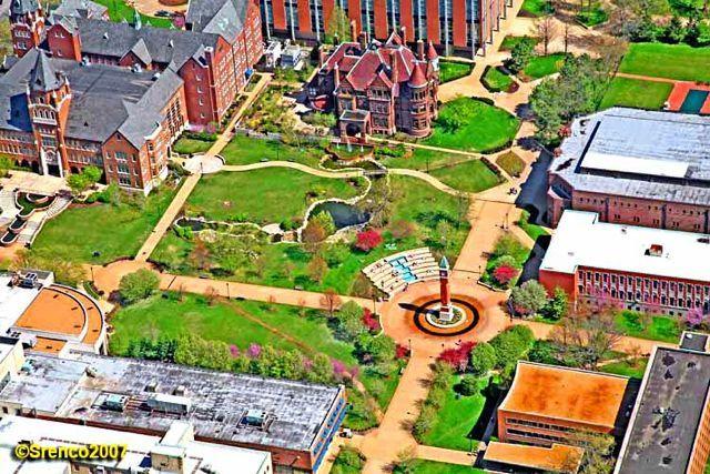 Saint Louis University Campus   ... courtyard area with the Cupples House on St Louis University Campus