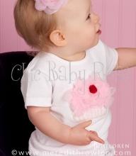 Chic Baby Rose fluffy cherry cupcake petti top - handmade in the USA.