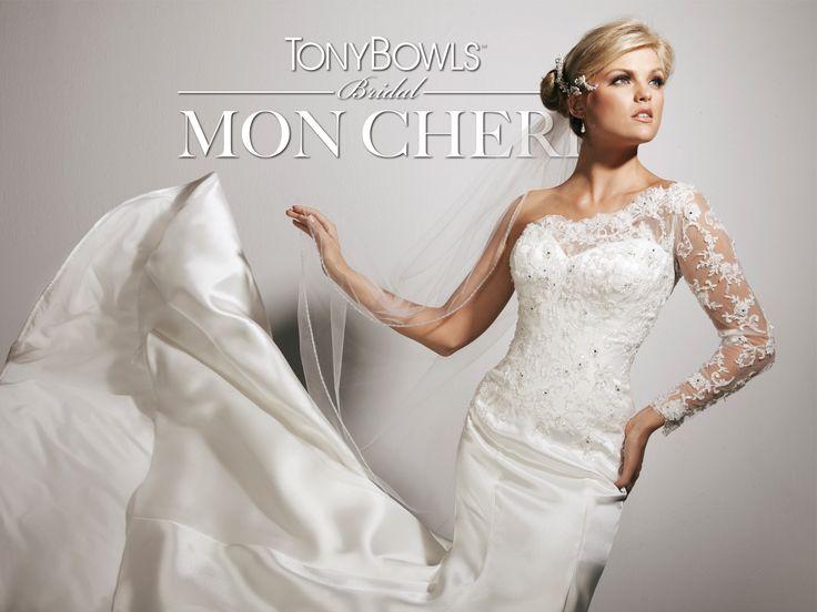 Coming soon! One-shoulder satin mermaid wedding dress!  Style No. T113236 ~Tony Bowls