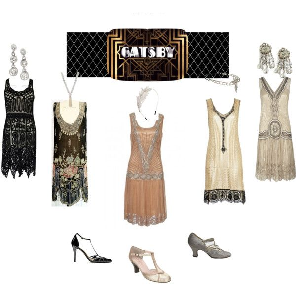 Great Gatsby Style Fashion featuring Sweet Romance Jewelry www.SweetRomanceOnline.com
