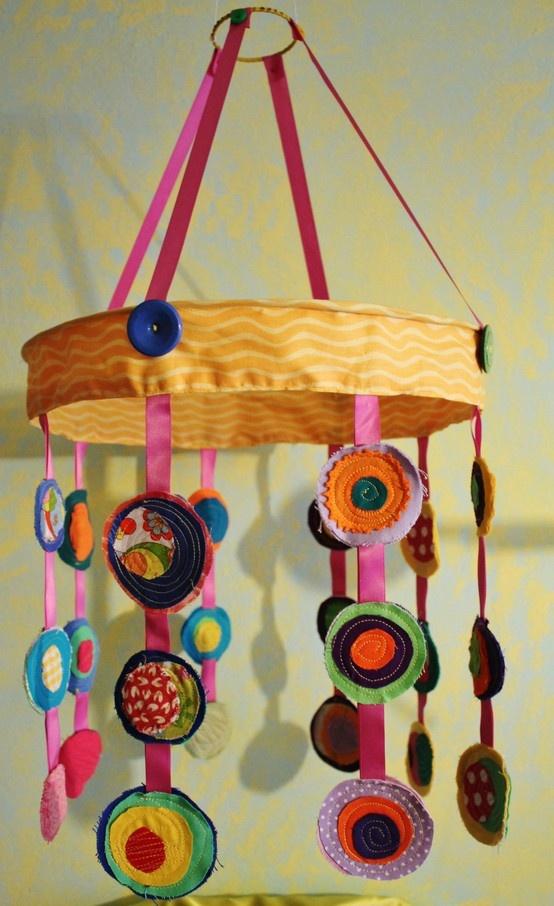 Porta lampada con tessuti riciclati #sewing #baby #recicle
