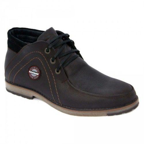 Зимние ботинки коричневые 057 К