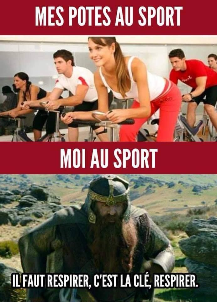 Mes Potes Au Sport Vs Moi Au Sport Il Faut Respirer C Est La Clef Respirer Humour Blague Rire Blague Humour Humour Disney