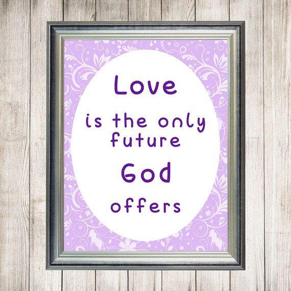 Printable Love Quote, Inspirational Art, Valentine Wall Decor, Wisdom Printable, 8 x 10 inch, Valentine Gift, Victor Hugo, Instant Download
