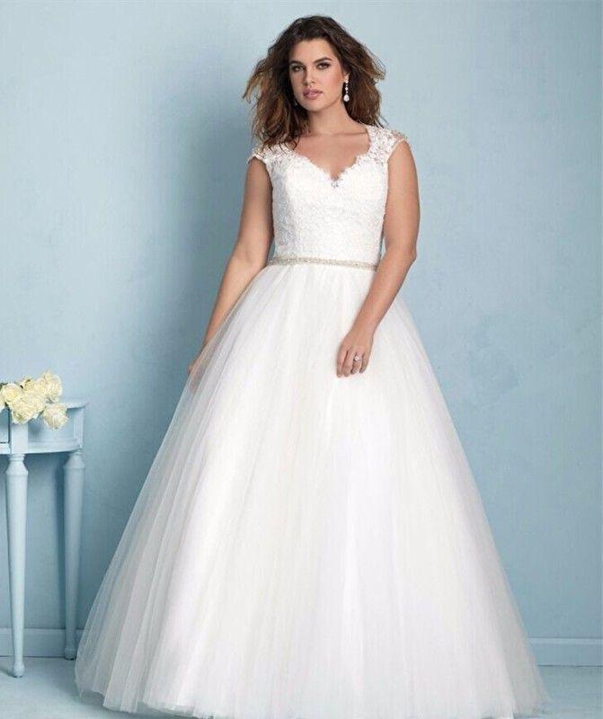 AF 201613 grote maat bruidsjurk, maat 48 t/m 52 | Grote maten Trouwjurken, maat 46 t/m 58 | Aryan Fashion