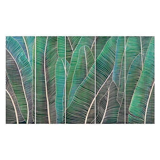 For relaxed style to soothe your space opt for the geometric lines of the Tropical Oasis Leaf Wooden Carved Wall Art from Soundslike HOME.