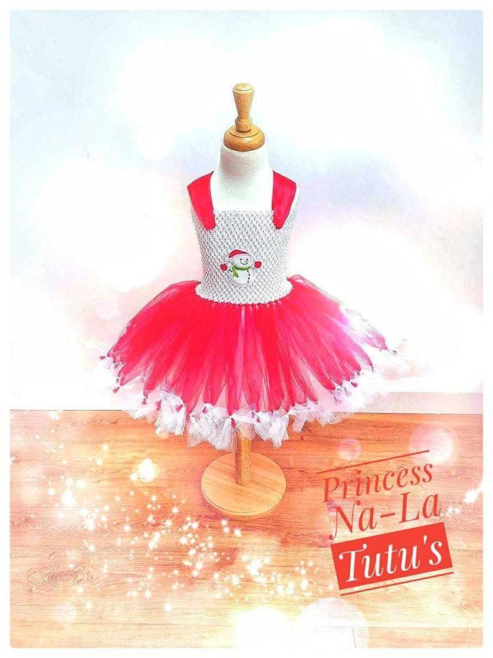 Snowman Dress - Christmas Tutu - Holiday Outfit - Fancy Dress - Puffy Tutu Dress - Christmas Dress - Santa Little Helper - Red Dress -  - by PrincessNaLatutus on Etsy
