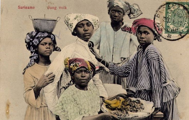 Young people in Suriname in 1900