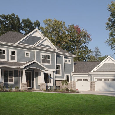 Blue Siding With Gray Stone Blue Siding Pinterest