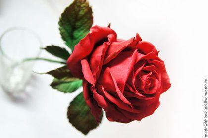 """Мастер-класс """"Роза из фоамирана"""" - цветоделие,цветы из фома,цветы из фоамирана"""