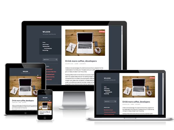 Wilson is a  clean and #responsive #wordpress #theme  for #personal #blog