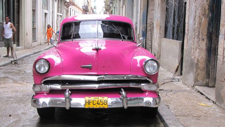 Classic 1950s car in the streets of Havana