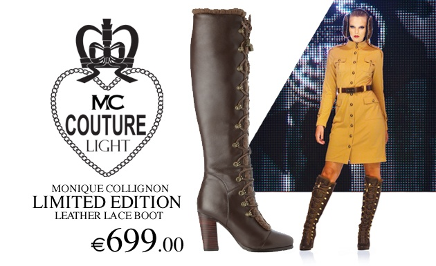 Monique Collignon Limited Edition Brown Leather Boots.