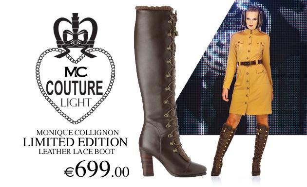 Monique Collignon Limited Edition Brown Leather Boots.