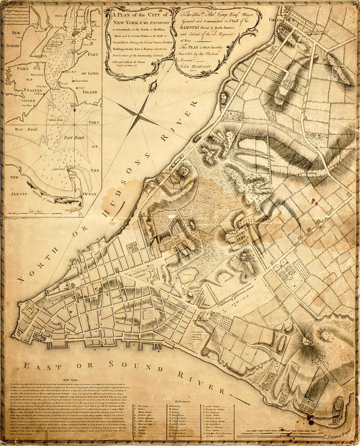 Map of New York City in 1767  my family came over with Styvestant and the Dutch tea trading company to settle here
