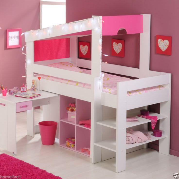 Fancy M dchen Kinderbett Hochbett Funktionsbett Rosa Kinderzimmer Bett Jugendzimmer
