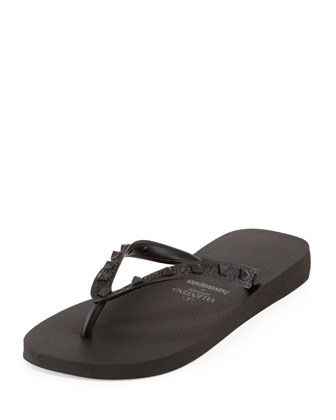 by Havaianas Rockstud Flip Flop, Black  by Valentino at Bergdorf Goodman.