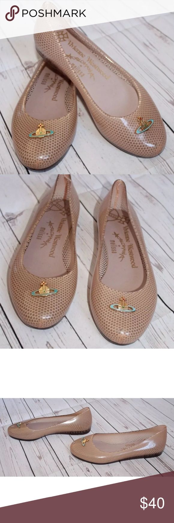 Vivienne Westwood + Melissa + Anglomania Size 5 BRAND: Vivienne Westwood Melissa Shoes CONDITION: Perfect Pre- Owned Like New ITEM STYLE: Flates MATERIAL: Plastic COLOR: Beige SIZE: 5 M Melissa Shoes Flats & Loafers