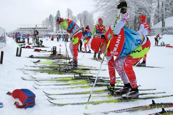 Canadian XC Skier testing the venue in Sochi